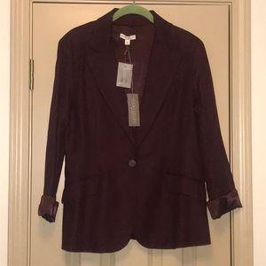 Eva Mendes Collection Plum Suit Jacket